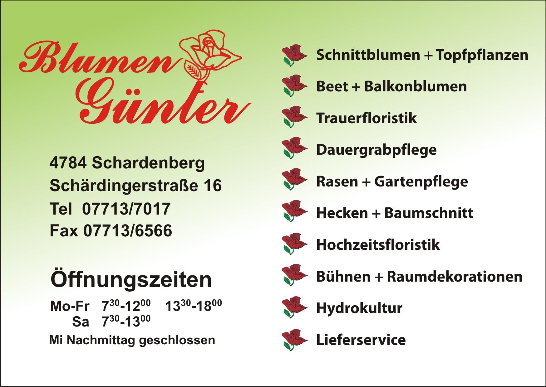 Blumen Günther